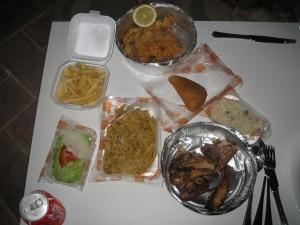 Dinner from O Tacho