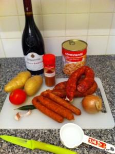 Feijoada - simple ingredients