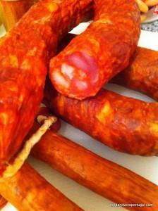 Portuguese food - chourico and linguica
