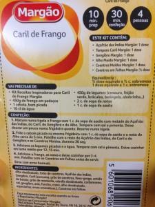 Portuguese recipes - Margao caril de frango