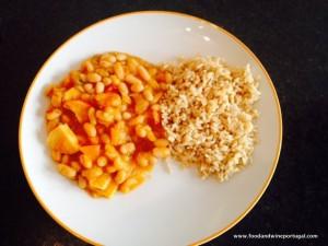 Prawn feijoada and rice